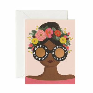 Card: Flower Crown Birthday Girl