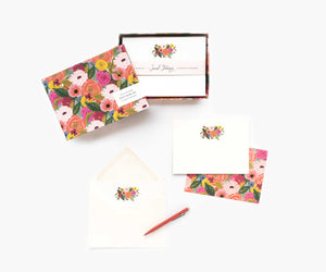 Social Stationery Set: Juliet Rose