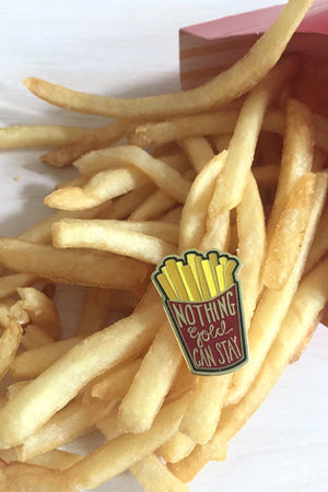 Enamel Pin: Golden Fries, 1.25""