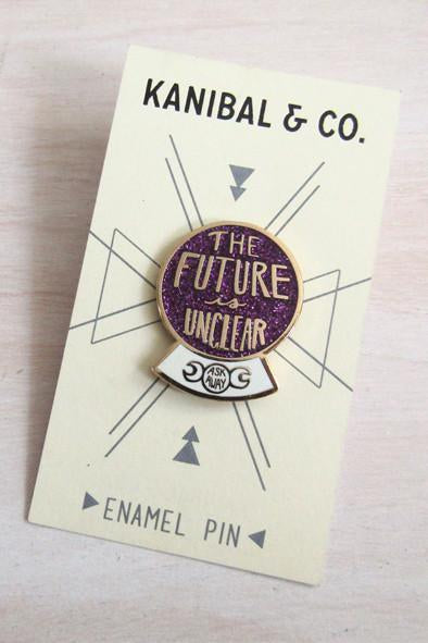 Enamel Pin: Future Is Unclear, 1.25""
