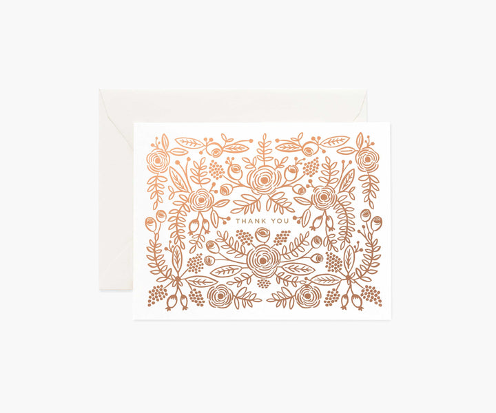 Boxed Card Set: Rose Gold Thank You
