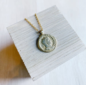 Necklace: Roman Coin Repro, Emperor Galerius - Brass