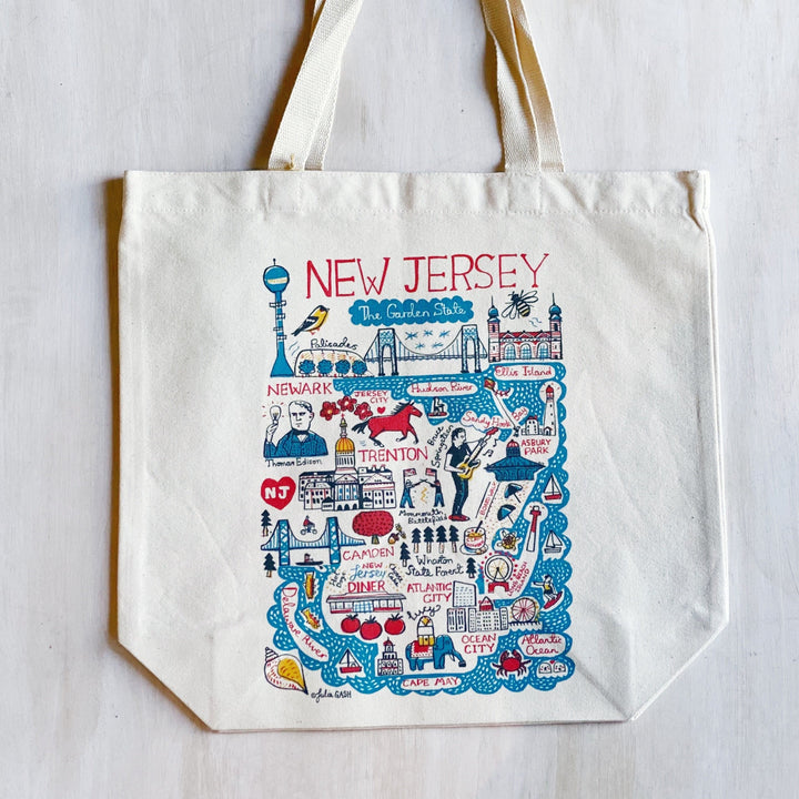 Tote: New Jersey Map