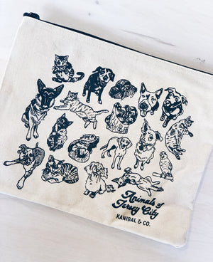 Zip Pouch: Animals of Jersey City