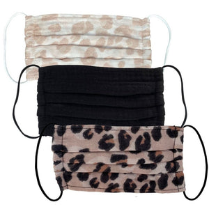 Face Mask: Leopard, 3 Pack