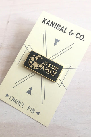 Enamel Pin: Moon Phase, 1.25""