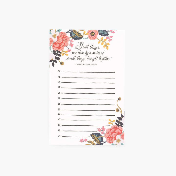 Checklist Notepad: Great Things