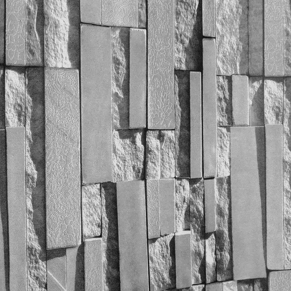 grey stone brick wall design