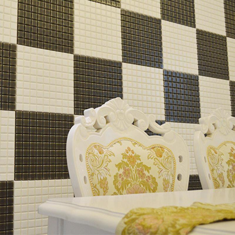 3D Checkered Tile Pattern Wall Decal