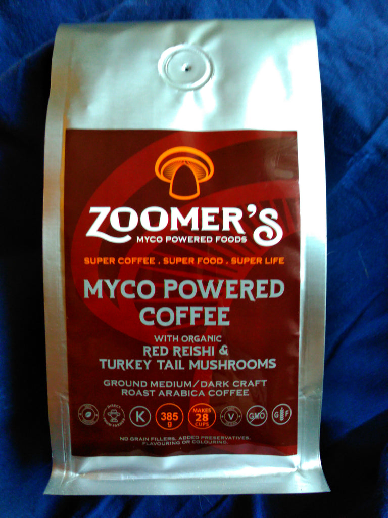 SOLD OUT - DEPOSIT - 20 Units - ZOOMER'S MYCO POWERED COFFEE - RED REISHI & TURKEY TAIL