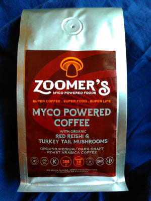 200 Units - ZOOMER'S MYCO POWERED COFFEE - RED REISHI & TURKEY TAIL