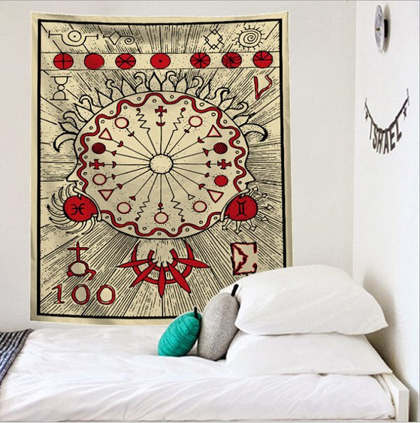 Mandala Tapestry Indian Wall Hanging Decor Beach Bohemian Hippie Bedspread Throw Halloween Home Decor