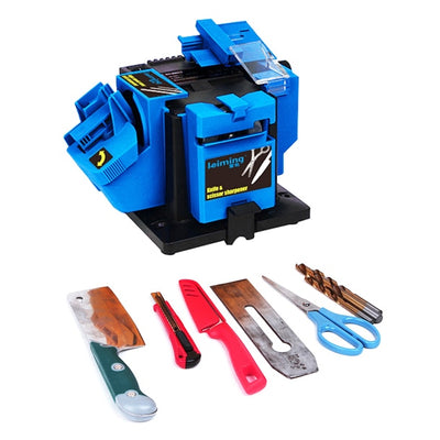 Multifunction Electric Knife Sharpener Drill Sharpening Machine Knife & Scissor Sharpener Power Household Grinding Tool EU Plug