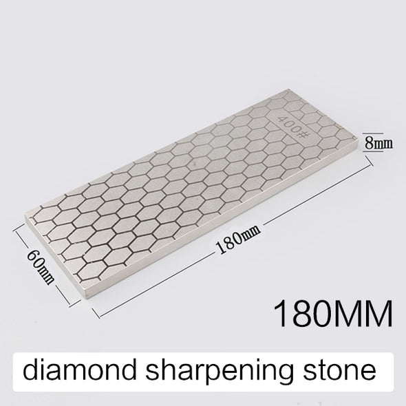 [Video]RSCHEF 400 1000 grit grain double side New design Diamond knife sharpening stone ice skates metal plate guide stand base