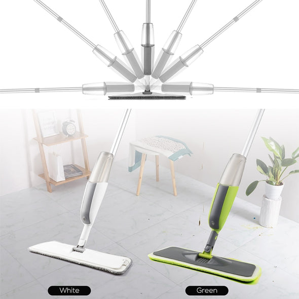 Magic Spray Mop Wooden Floor with Reusable Microfiber Pad 360 Degree Handle Home Window Kitchen Supplie Sweeper Broom Clean Tool