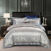 New Luxury Silk Jacquard Duvet Cover Set