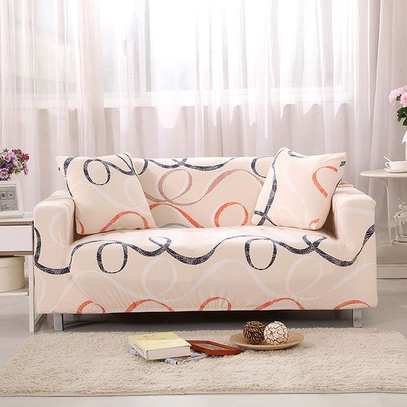 Solid Color Polyester Sofa Cover High Elasticity Non-slip Couch Slipcover Universal Furniture Chair Protector Cover