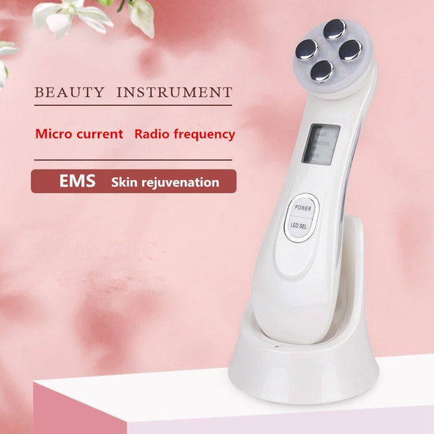 Electroporation Mesotherapy LED Photon Light Therapy RF EMS Skin Rejuvenation Face Lifting Tighten Skin Massage Beauty Machine