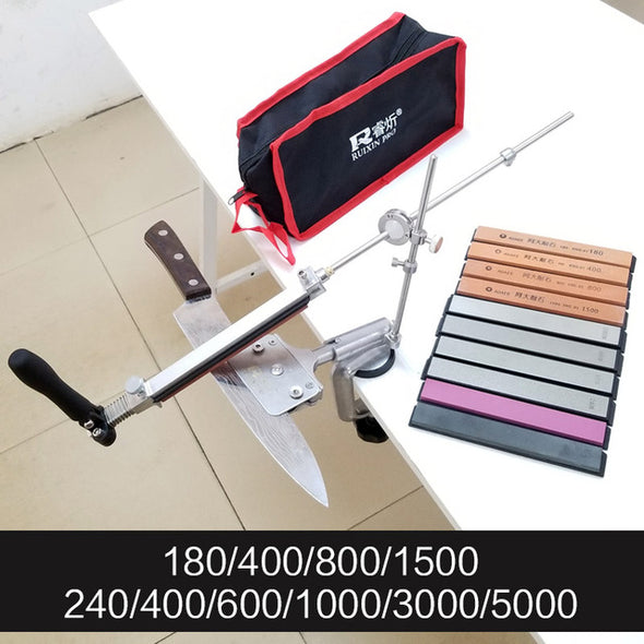 RUIXIN 4 generations Fixed angle sharpener Metal Material knife sharpening system Sharpening stone With stones