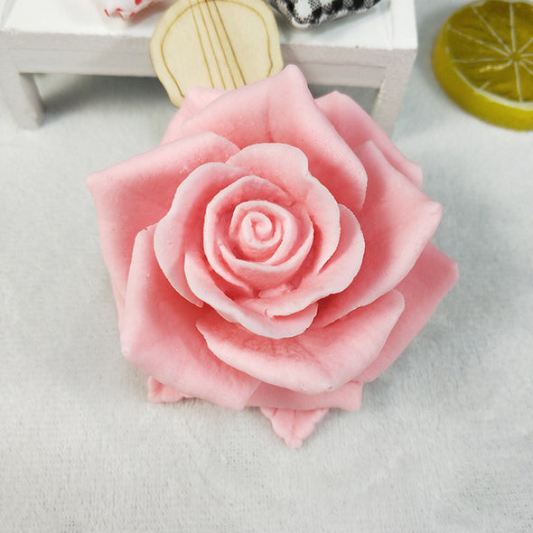Bloom Rose Flower shape 3D Silicone Mold for soap Making DIY Cake Mold Cupcake Jelly Candy Decoration Craft Baking Tools