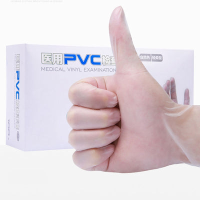 Transparent PVC Vinyl Disposable Gloves