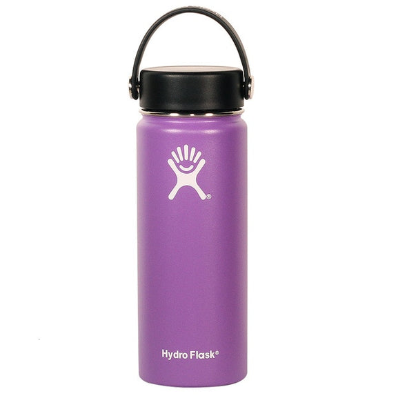 18oz 32oz Stainless Steel Water Bottle Hydro Flask Water Bottle Vacuum Insulated Wide Mouth Travel Portable Thermal To Climb