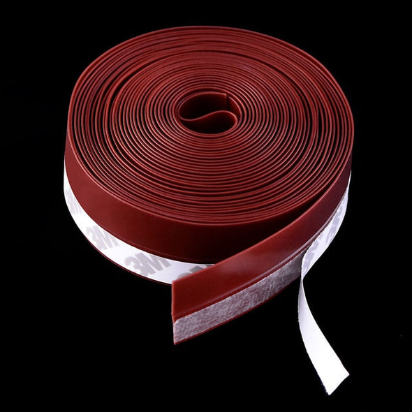 5M Self Adhesive Door Seal Strip Weather Strip Silicone Soundproofing Window Seal Draught Dust Insect Door Strip 25MM/35MM/45MM