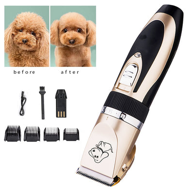 Rechargeable Low-Noise Pet Hair Clipper Remover Cutter Grooming Cat Dog Hair Trimmer Electrical Pets Hair Cut Machine Wholesale