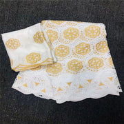 Latest Swiss voile Lace Fabric 100% Cotton Embroidery High Quality African French Cotton Laces Fabrics 5+2Yards/Lot     BZ001