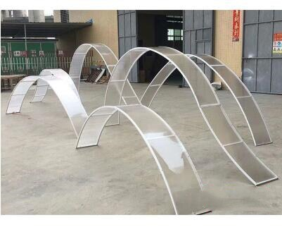 New wedding props wave sunlight transparent board curved frame semicircle wedding road lead free curve
