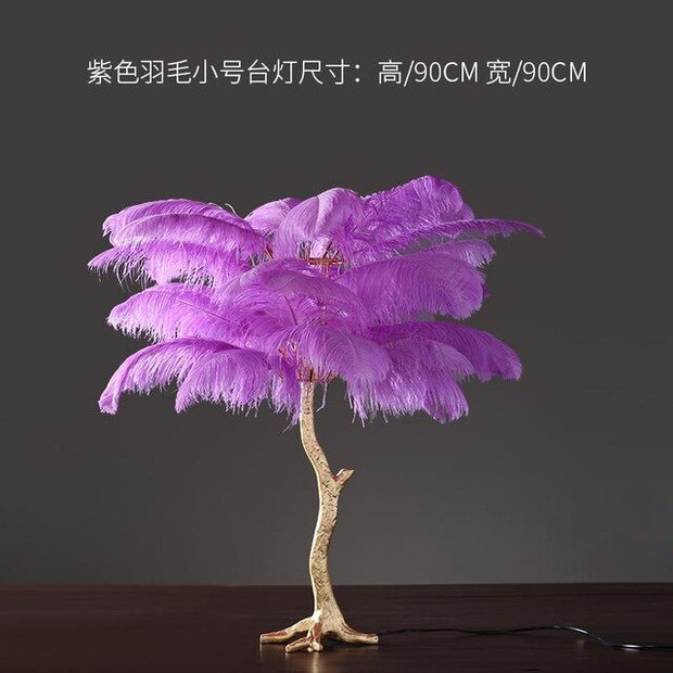 European light luxury ostrich feather floor decoration creative home decorations living room floor decoration gifts