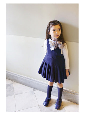 Girls Navy Blue TuTu Dress