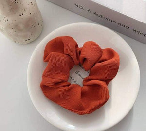Cord Hair Scrunchie - Red