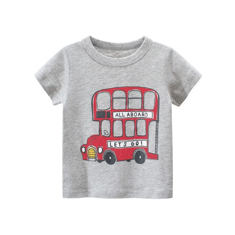 100% Cotton T-shirts- London Bus (Ready stock)