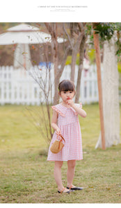 Pink Checked Cotton Dress