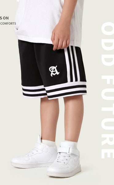 Sporty Shorts- Striped ( Ready stock)