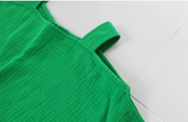 Premium Off Shoulder Dress - Green