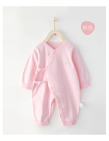 Cotton Wrap Style New Born Baby Sleepsuits- Pink ( Ready stock)