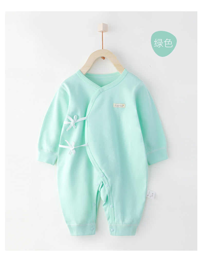 Cotton Wrap Style Sleepsuits- Green ( Ready stock)
