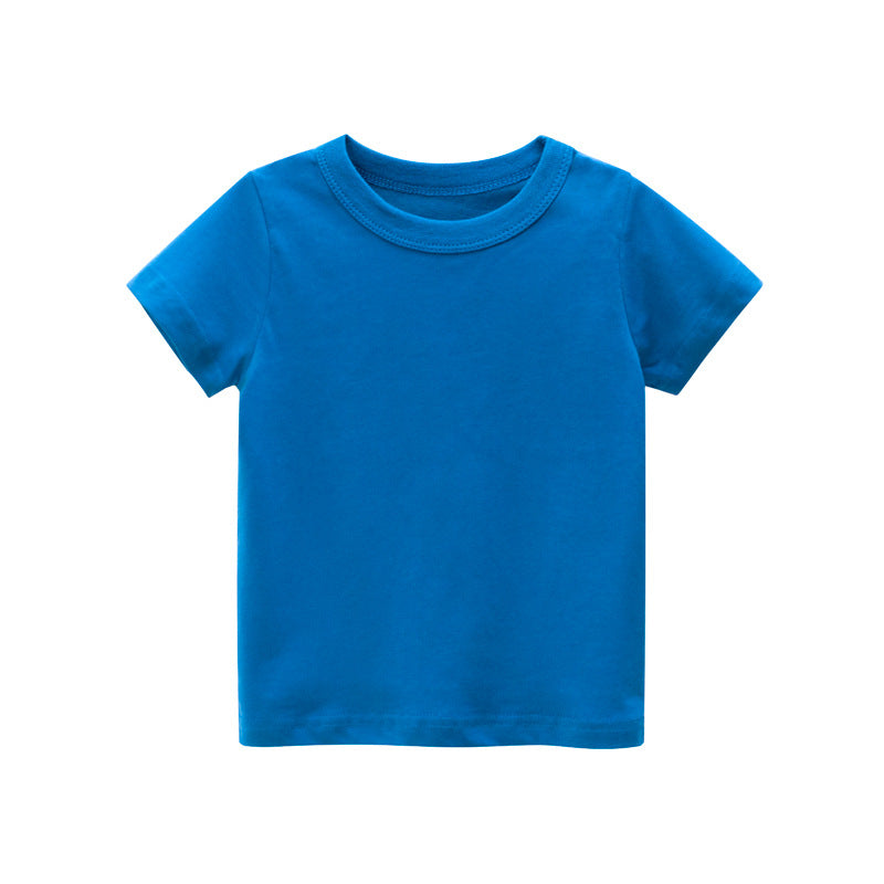 Boys or Girls Blue 100% Cotton T-shirts
