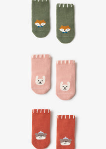 Baby Animal Socks - 4 Pairs in a Box ( Ready stock)
