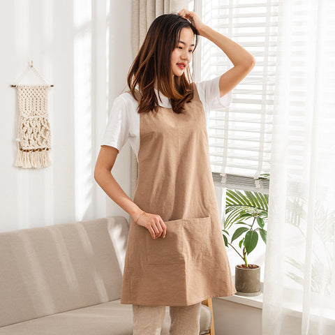Japanese style Apron- Brown ( Ready stock)
