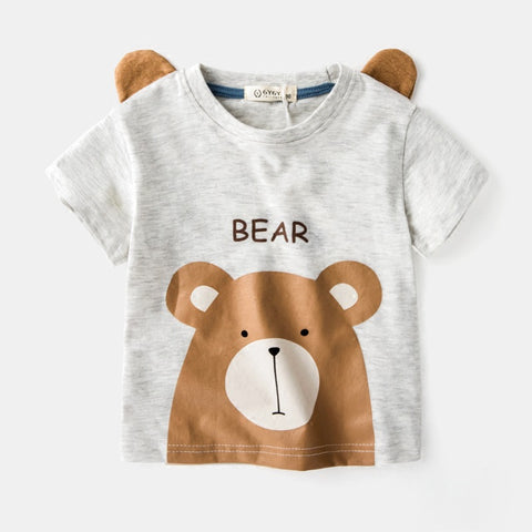 Boy cotton t-shirt- Bear