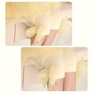 Deluxe Yellow Lace Legging ( Made in Korea)