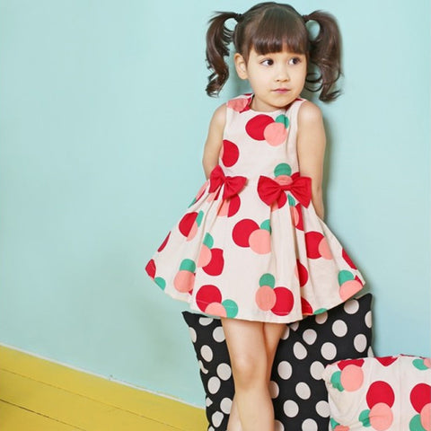 Cotton Polka Dot Girl Dress