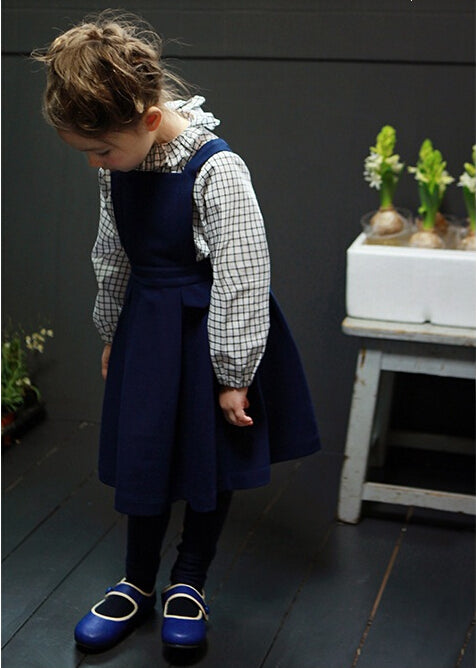 Blue Navy Pinafore Dress