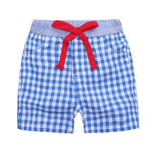 Boy Japanese Style Cotton Two-Tone Short - Blue