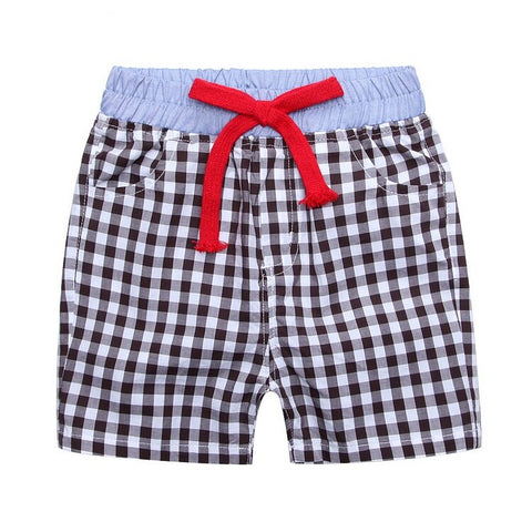 Boy Japanese Style Cotton Two-Tone Short - Black