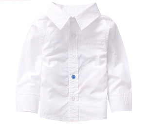 Unique Blue Button Shirt- White