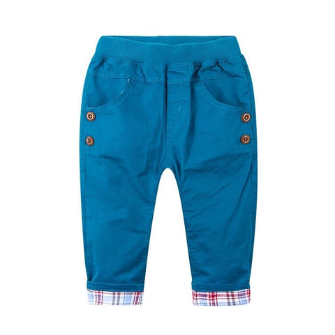 Roll Up Trouser- Blue